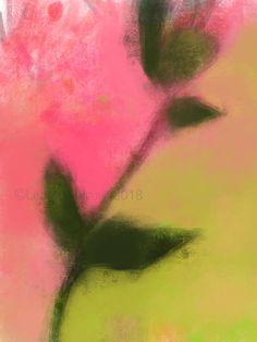 Dessin, pastel, peinture, fleur feuilles rose vert, oeuvre unique, impression d'art qualité archive, tirage limité, épreuve signée numérotée Les Oeuvres, Northern Lights, Art Floral, Nature, Etsy, Unique, Decor, Impressionist Art, Impressionism
