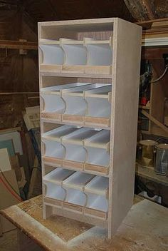 Homestead Survival: Build A Rotating Food Shelf DIY Project Do It Yourself Furniture, Do It Yourself Home, Diy Furniture, Furniture Plans, Basement Storage, Storage Shelves, Diy Shelving, Can Storage, Rolling Storage