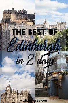 Wonder how to fit the best sights in Edinburgh in 2 days? This guide is your ultimate weekend itinerary to the capital of Scotland. Scotland Vacation, Scotland Travel, Scotland Trip, Edinburgh Scotland, Weekend Trips, Weekend Getaways, Places To Travel, Places To See, Travel Stuff