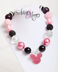 Mouse Ears Children's Necklace Mickey Kids by AdoreMooreBoutique, $20.00