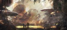 """legendarylandscapes: """"Mushroom Land by stgspi """""""