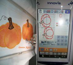 Aplicação em bordadeira eletrônica