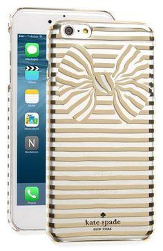 kate spade new york stripe bow iPhone 6 Plus & 6s Plus case | Nordstrom