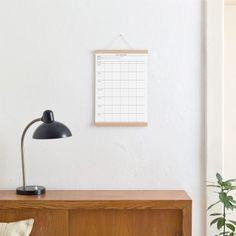 Kleinwaren / von Laufenberg – Der A2 Wandkalender 2020 mit Posterleiste | selekkt.com Desk Lamp, Table Lamp, Floating Nightstand, Shelves, Design, Furniture, Home Decor, Calendar, Wall Calendars