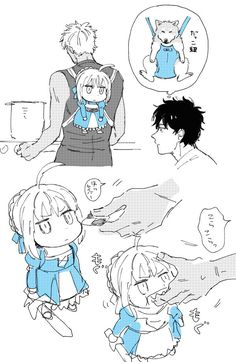 Holy crap a wild saber is here. Quick use a shirou to tame her😆😆 Fate Stay Night Series, Fate Stay Night Anime, Anime Chibi, Anime Manga, Arturia Pendragon, Fate Servants, Accel World, Fate Anime Series, Baguio