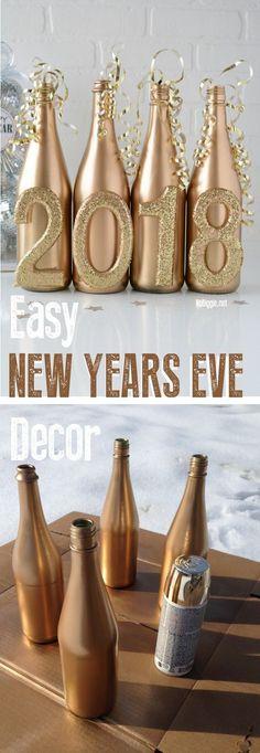 Easy New Year's Eve DIY decor via @nobiggie
