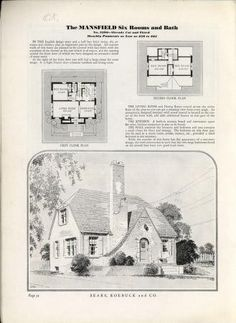 Sears Mansfield Similar to the Dover Sears Catalog Homes, Arched Front Door, Vintage House Plans, Gable Roof, Field Guide, Kit Homes, Inspired Homes, Windows And Doors, Old Houses