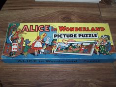 1940s 1950s RARE Alice in Wonderland Parker Brothers 4 Jigsaw Puzzle +Box