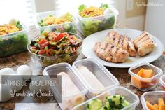 Atkins Diet Meal Prep: Lunch and Snacks