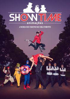 Flyer de divulgação frente - Show Time Animações
