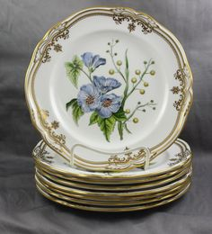 "Spode China Stafford Flowers Salad Plate 7 7/8"" England Sold Individually"