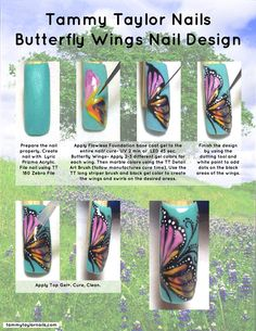 """Tammy Taylor Nails """"Butterfly Wings"""" Nail Tutorial"""