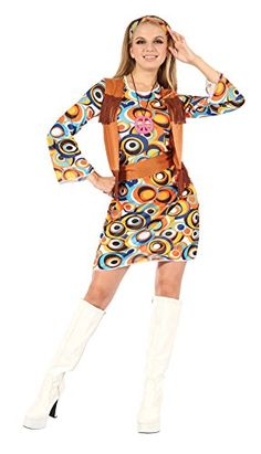 awesome       £10.52  Comes in one standard size to fit a UK size 10-12. Costume includes: Dress with attached Waistcoat, Headband, Necklace, BeltWo...  Check more at http://fisheyepix.co.uk/shop/ladies-60s-hippymod-dress-fancy-dress-costume/