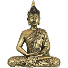 Golden Thai Buddha Statue http://wld.mn/1hm7vfm  This elegant Thai Buddha statue will grace an altar as a devotional focus for your meditations, or can be used as a decorative item in the home or garden.