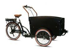 Troy elektrische bakfiets 7-speed zwart + bankkussens