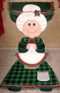 Linda MAMÀ NOEL PARADA BAÑO Cute Crafts, Christmas Projects, Decor Crafts, Diy And Crafts, Christmas Crafts, Merry Christmas, Christmas Decorations, Christmas Ornaments, Holiday Decor