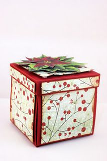 pretty gift wrap. Patterned paper added to sides of the red box.