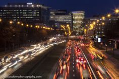 Commuters stuck in late-afternoon traffic in  Warsaw, Poland | © Curtis Budden curtisbuddenphotography.com Warsaw Poland, Cityscapes, Times Square, Travel, Voyage, Viajes, Traveling, Trips, Tourism