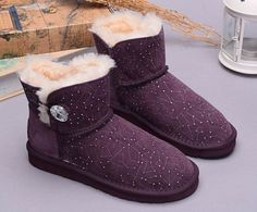 UGG Boots Mini Bailey Button Bling Constellation 1008822 Purple