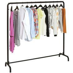 Amazon.com: Freestanding Black Metal Clothes Rack / Clothing Storage Organizer / Modern Garment Hanger Stand -MyGift: Home & Kitchen