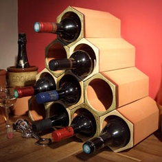 1000 images about wine racks on pinterest wine racks wine rack design and wooden wine racks - Wine rack shaped like wine bottle ...