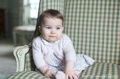 Princess Charlotte taken by her mother, the Duchess of Cambridge in early November, in their Norfolk home.