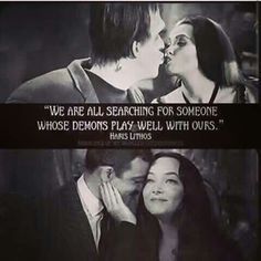 Lily and Herman Munster & Gomez & Morticia Addams Movie Quotes, Funny Quotes, Life Quotes, Funny Family Quotes, Funny Memes, Dark Love, My Love, Addams Family Quotes, Los Addams