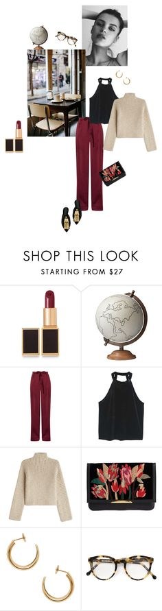 """""""Rêverie"""" by ellasophialove ❤ liked on Polyvore featuring GE, Tom Ford, Coffee Shop, Jamie Young, Valentino, MANGO, Rosetta Getty, Lizzie Fortunato, Maison Margiela and Cutler and Gross"""