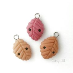 #kawaii #charms #polymer #clay #leaves