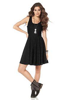 Laura Scott Spitzenkleid »Mit weitem Tellerrock« im QUELLE Online Shop Laura Scott, Elegant, Black, Dresses, Fashion, Dress Skirt, Tops, Lace, Figurine