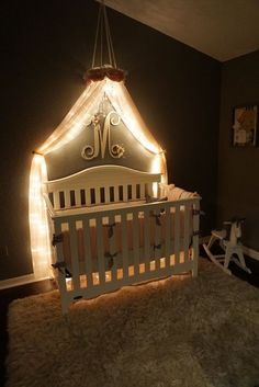 COMBO PURCHASE Crib Canopy & Monogrammed Letter by DesignsByANM
