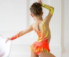 Beautiful designer rhythmic gymnastics leotard