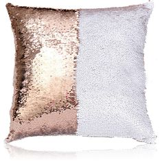 Mermaid Two Colors Sequins Inverted Flip Change Color Pillow Cover... (145 MXN) ❤ liked on Polyvore featuring home, home decor, throw pillows, home textiles, sequins pillows, throws & pillows, white throw pillows, mermaid home decor, white accent pillows and white home decor