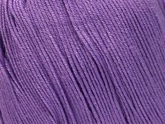 100% Pure Bamboo ~ Lilac ~ Free Shipping Sleek, soft, 'drapey' and airy, bamboo yarn is obtained from the pulp of the bamboo plant and ideal for cool breathable lightweight knitted garments. Nice summer pure bamboo fine yarn.  8 Balls per bag. Not sold individually  Fiber Content: 100% Bamboo