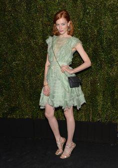 Jessica Joffe in a mint green dress // Chanel