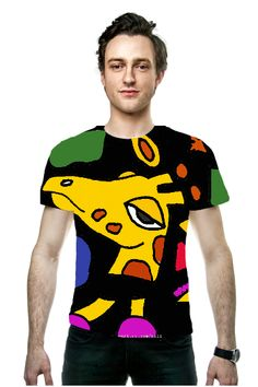 Funny Giraffe Art Shirt #giraffes #art #shirts #abstract OArtTee specializes in creating amazing, vibrant and colorful Wearable Art, created by Original Artists