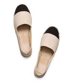 FLACHE ESPADRILLE IN COLOR-BLOCK-OPTIK 			 - DULCE DE LECHE/BLACK/DULCE DE LECHE