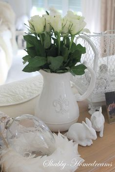 Easter Decoration - classic and white. Can be used again and again.