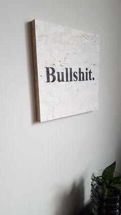 Obraz na płycie OSB - Bullshit 30x30