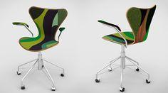 7 series de siete silla de Arne Jacobsen GRANDE Zaha Hadid jean nouvel Snohetta designboom