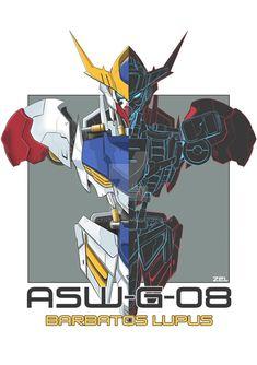 Gundam Frame Barbatos by Zelknight on DeviantArt Gundam Wing, Gundam Art, Barbatos Lupus Rex, Blood Orphans, Gundam Iron Blooded Orphans, Gundam Astray, Gundam Wallpapers, Gundam Mobile Suit, Arte Robot
