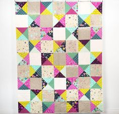 Cotton + Steel Mochi Simple Patch Quilt | Craftsy