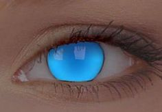 UV  Electric Blue Contact Lenses