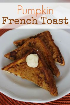 Easy French Toast recipe take the standard breakfast French toast to a whole new level. With ingredients including pumpkin puree, brown sugar and vanilla, you'll want to make a big batch.
