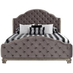 El Dorado Furniture   Rhianna King Panel Bed ($1,999) ❤ Liked On Polyvore  Featuring