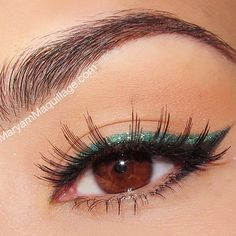 Black & Green by @maryamnyc in Motives Khol Eyeliners(Green Envy & Onyx)!   #Hazel #Envy #Onyx