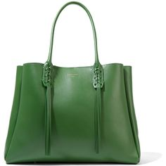 Lanvin The Shopper small leather tote (3.709.250 COP) ❤ liked on Polyvore featuring bags, handbags, tote bags, green, leather tote, green tote, shopper tote, leather tote purse and leather tote bags