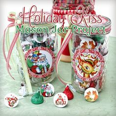 Printable Christmas Candy Jar Labels for the Holidays!