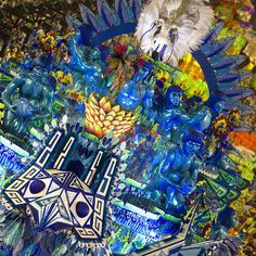Revellers from the Portela samba school perform during the first night of Carnival parades at the Sambadrome in Rio de Janeiro