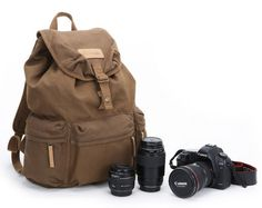 Extra Large Canvas Camera Backpack  DSLR by LovePhotographyLife, $59.99